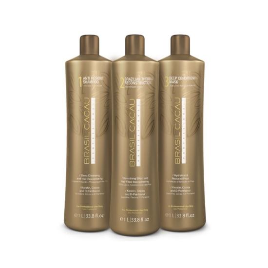 Brasil Cacau Professional: Набор для кератинового выпрямления волос 1L